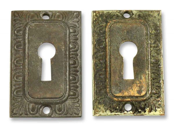 Pair of Brass Keyhole Covers