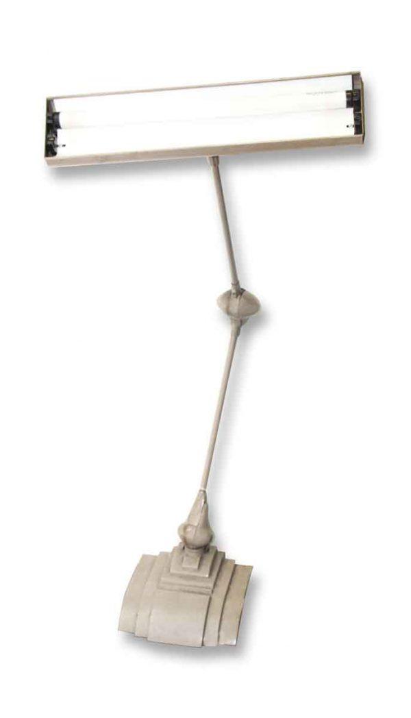 Large Industrial Florescent Desk Lamp with Deco Details