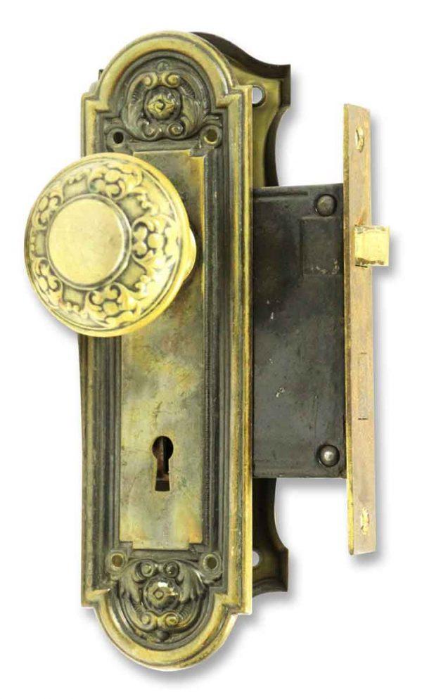 Brass Knob & Lock Set