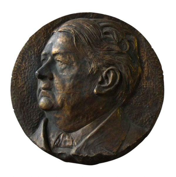 Figural Bronze Relief