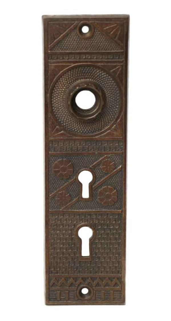 Detailed Bronze Double Keyhole Back Plate