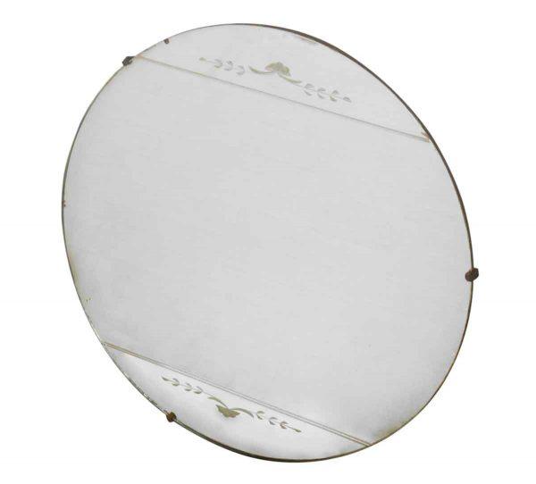 Round Etched Mirror