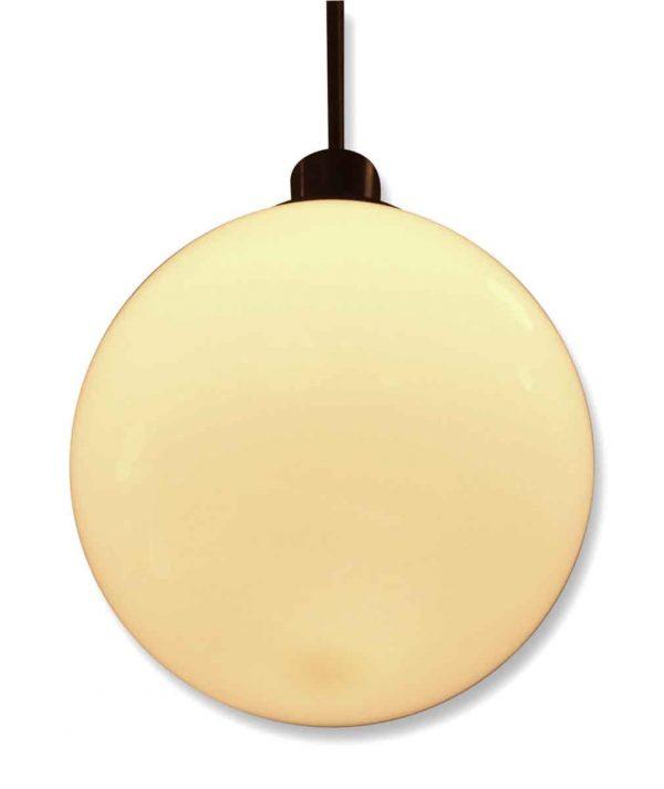 Vintage White Sphere Globe Light