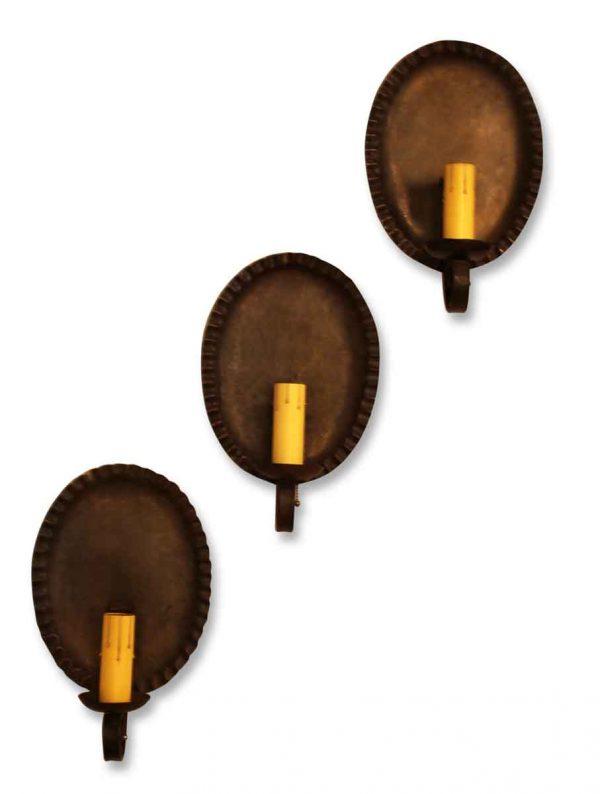 Set of Three Colonial Single Arm Sconces
