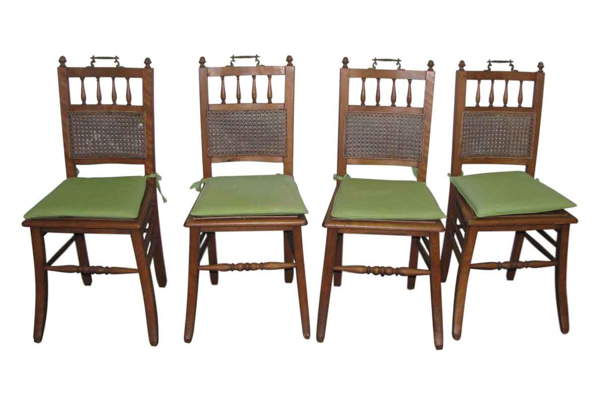Set of Four Wooden Chairs with Ornate Hardware | Olde Good ...