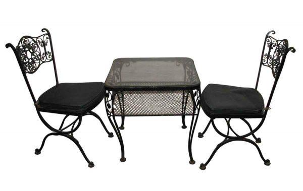 Vintage Black Iron Patio Set