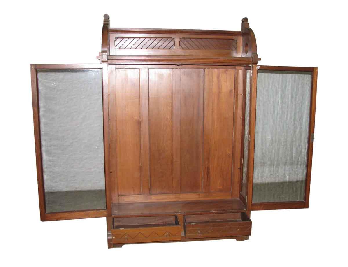 Pair of cherry eastlake cabinets olde good things for Storage eastlake