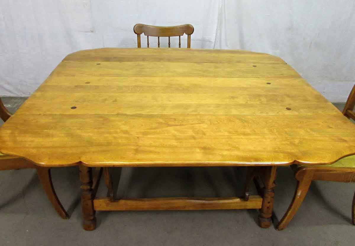 Large Rock Maple Dining Table With Chairs Olde Good Things