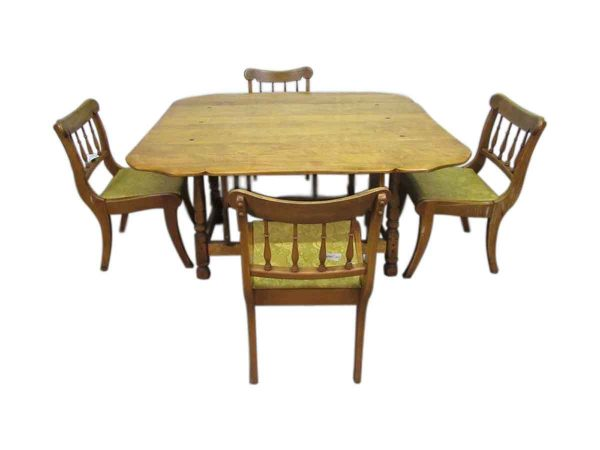 Large Rock Maple Dining Table with Chairs