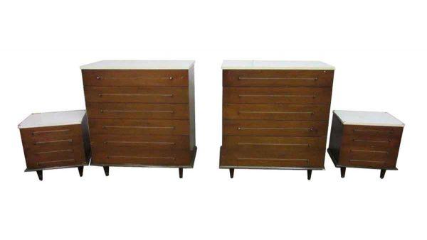 Mid Century Dresser & Night Stand Set