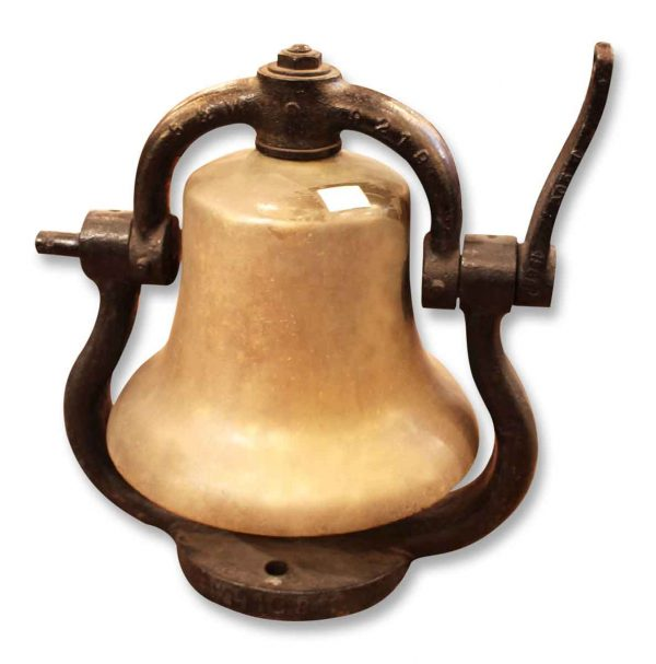Bronze Train Bell with Cast Iron Mount