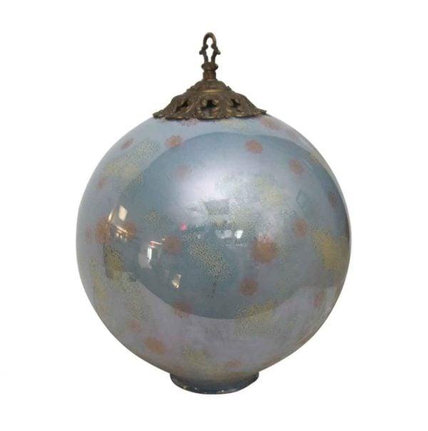 Pretty Blue Globe with Ornate Hardware