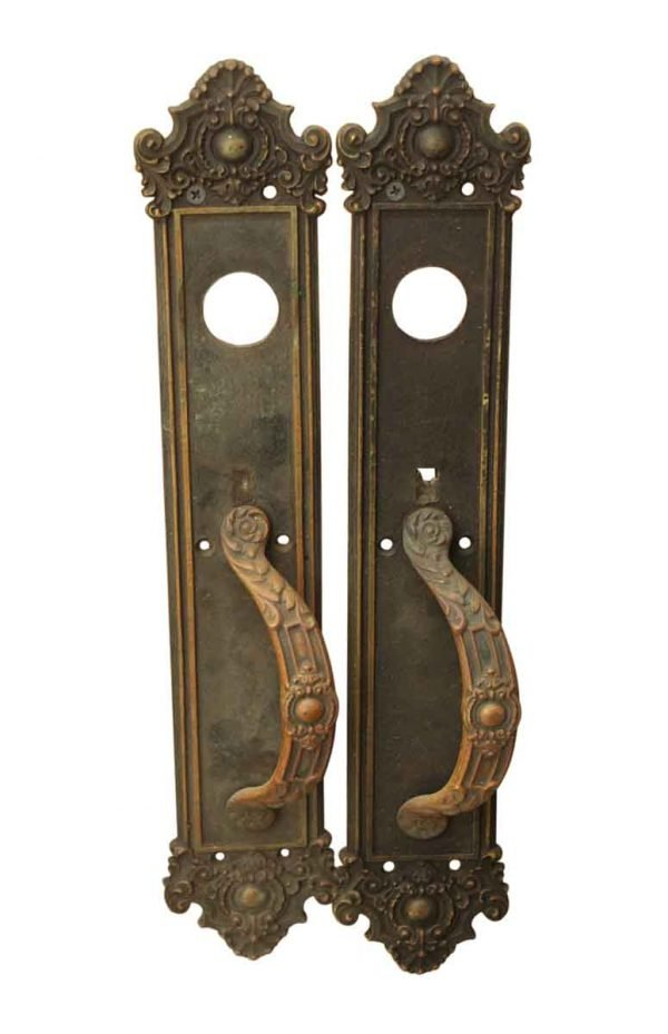 Ornate Bronze Entry Door Pulls