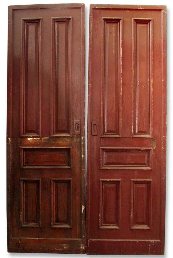 Pair of Wooden Pocket Doors