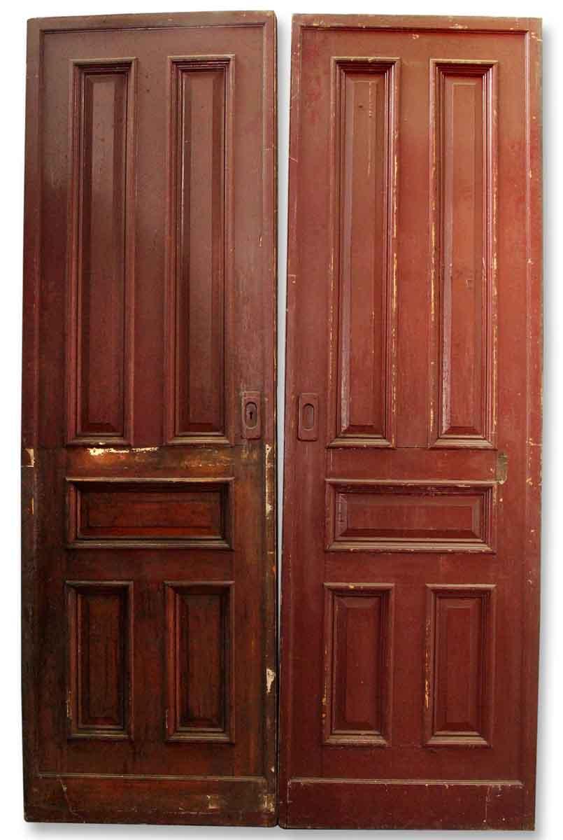 Pair Of Wooden Pocket Doors Olde Good Things