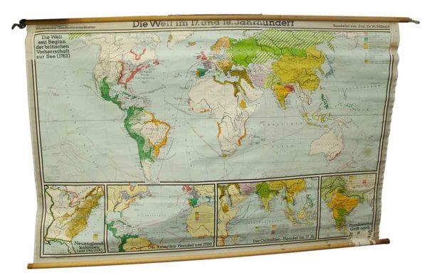Die Welt Seit Beginn Der Britischen Vorherrchaft Zut Map