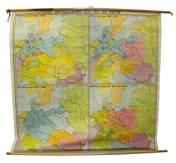 Mitteleuropa Von 1914 Bis Heute Map