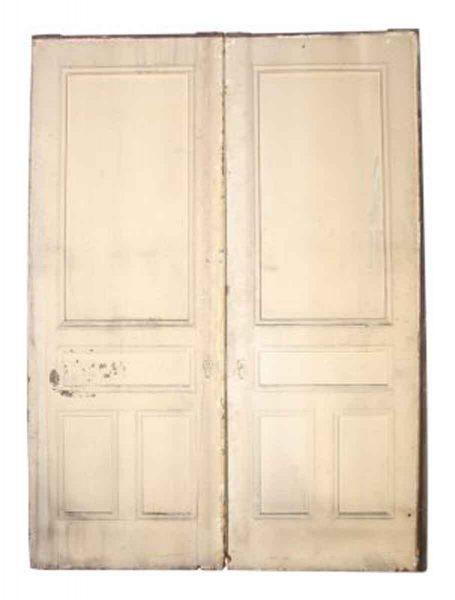 Large Eastlake Pocket Doors with Half Glass Panel