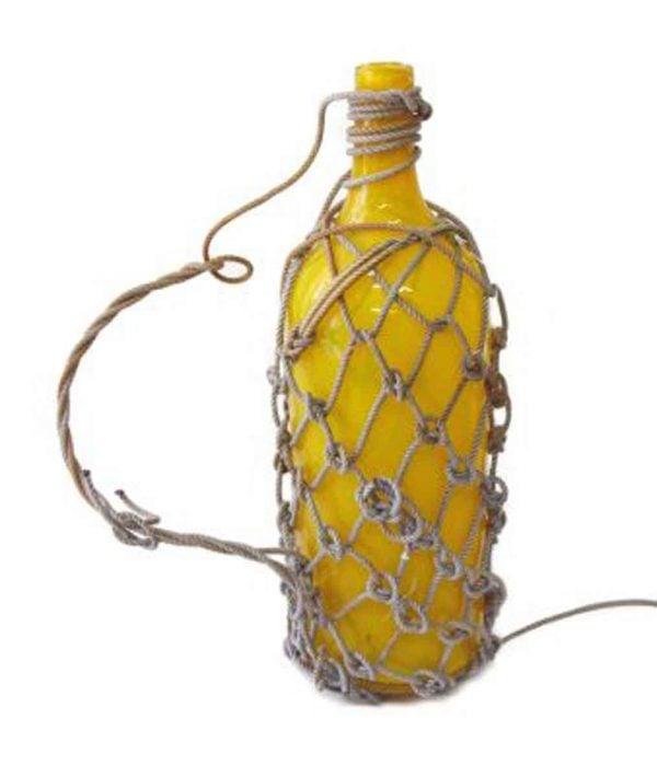 Yellow Glass Rope Jars