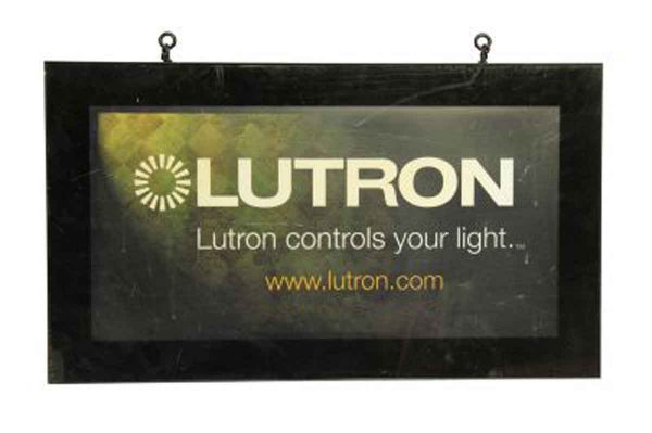 Lutron Double Sided Sign
