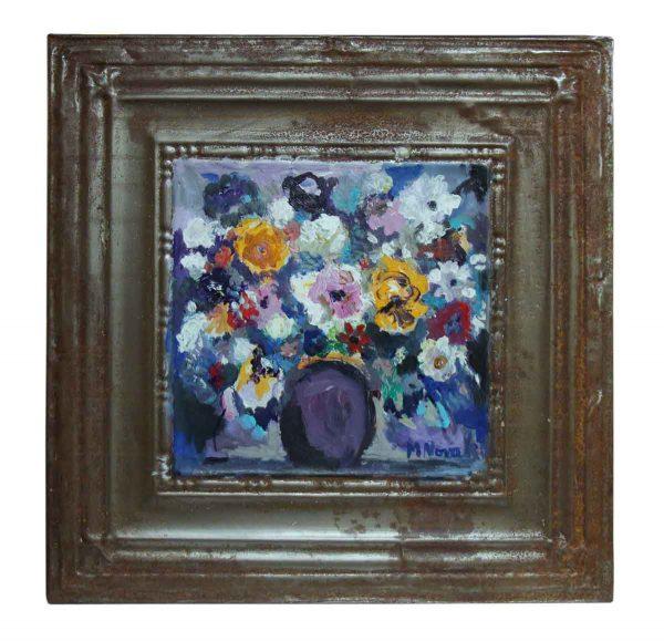 Floral Still Life Novak Vermeer Tin Panel