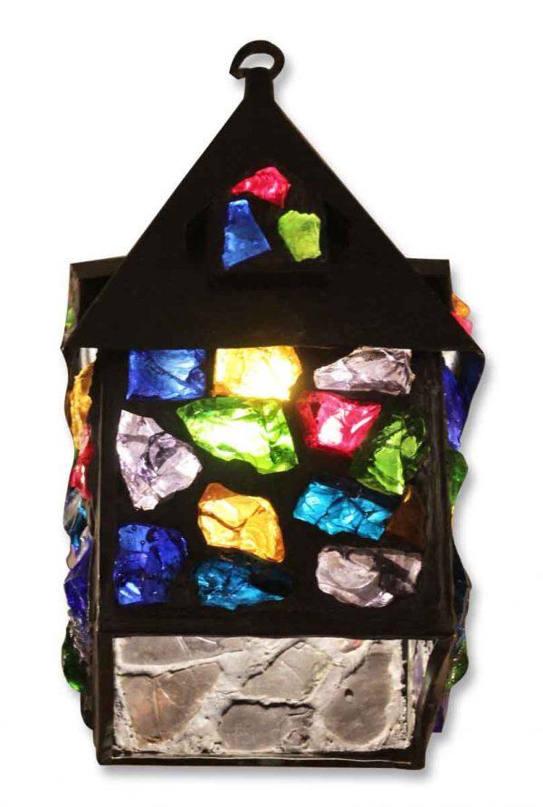 Colorful Chunk Glass Lantern