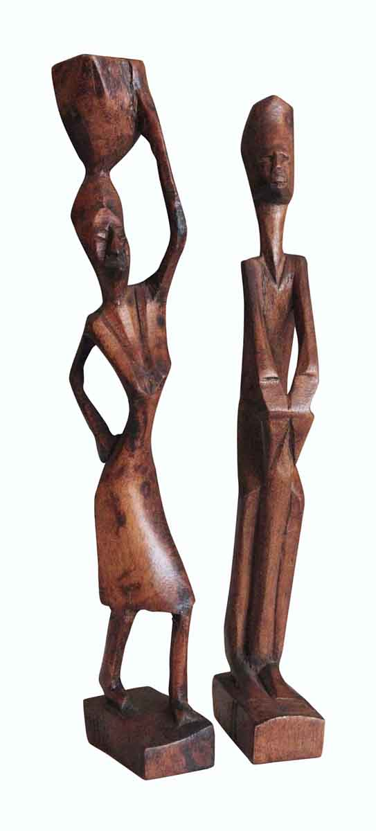 Pair of Wooden African Sculptures