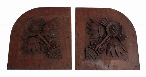 Pair of Wooden Decor Panels