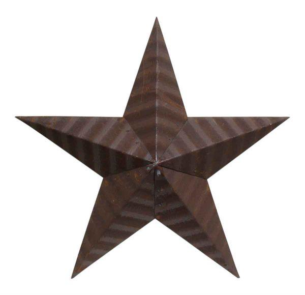 Brown Amish Tin Star