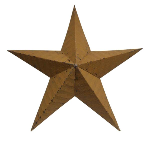 Mustard Yellow Tin Amish Star