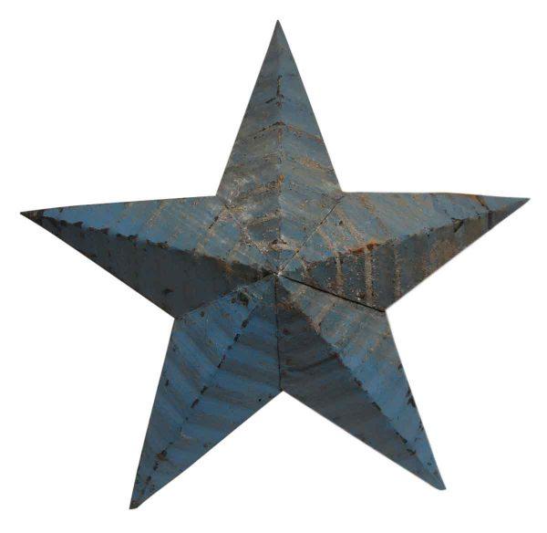 Rustic Blue Amish Tin Star