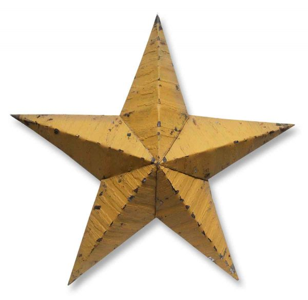 Small Yellow Amish Tin Star