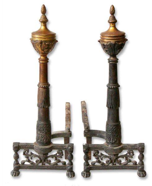 Pair of Steeple Andirons