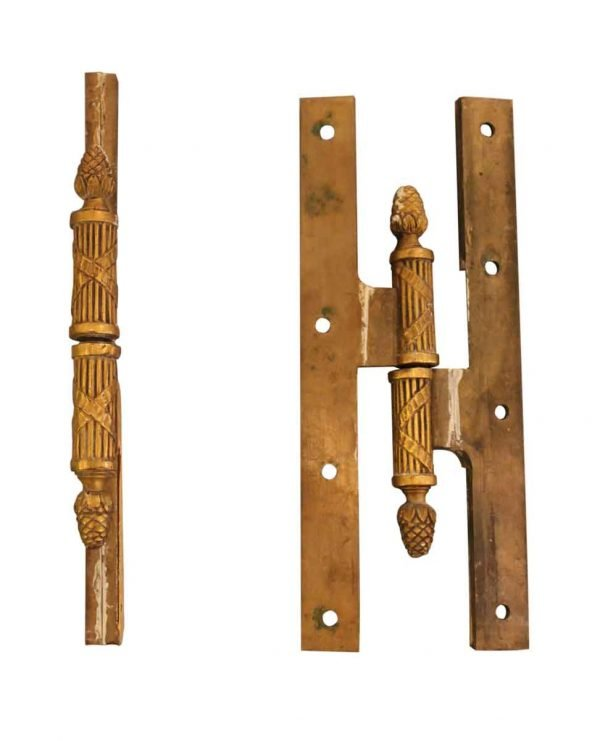 Set of Two Sherle Wagner Olive Hinges