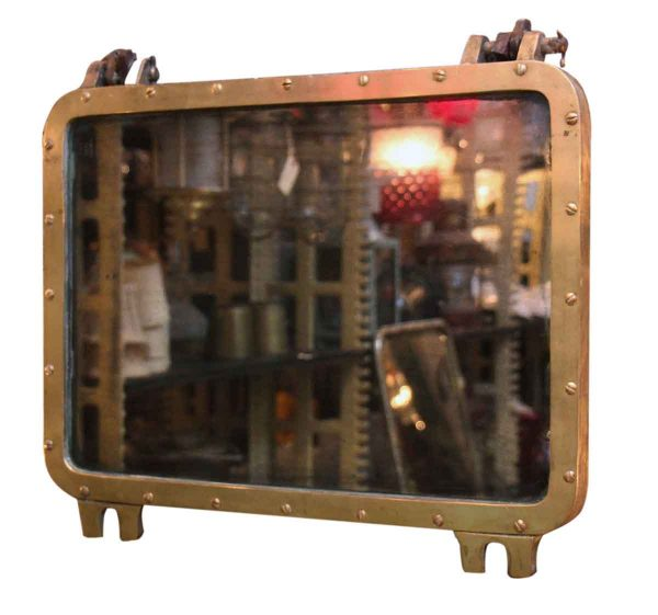 Rectangular Bronze Porthole Mirror