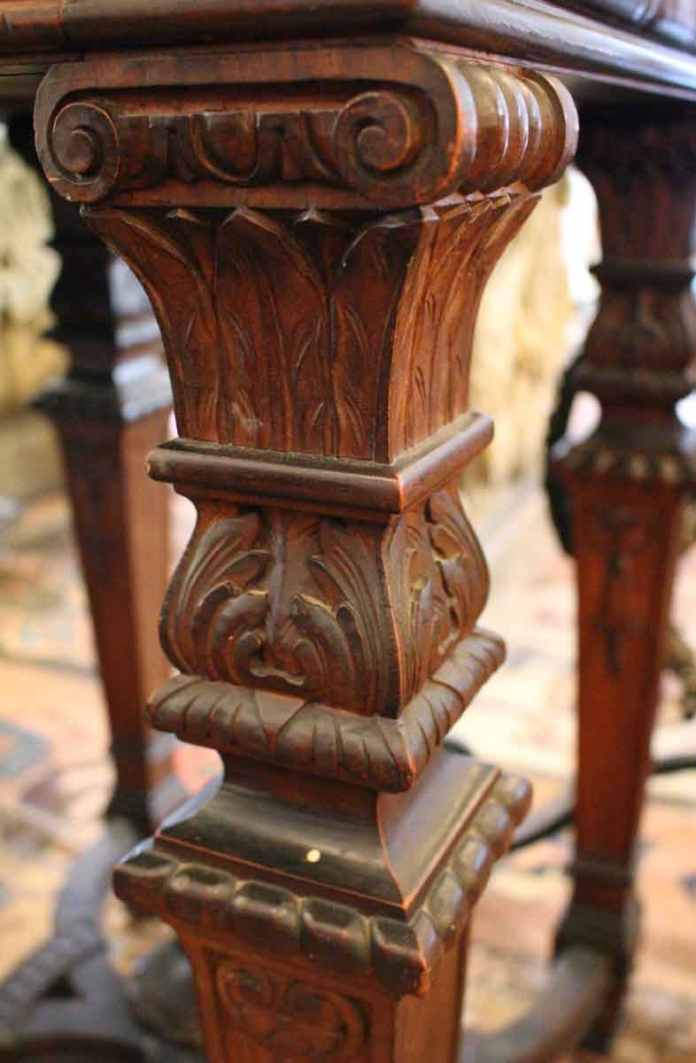 19th century carved wood console table with marble top olde good 19th century carved wood console table with marble top geotapseo Gallery