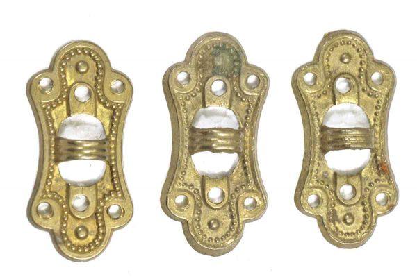 Set of Three Brass Curtain Tie Ups