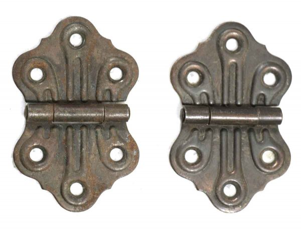 Pair of Dark Bronze Finish Butterfly Hinges