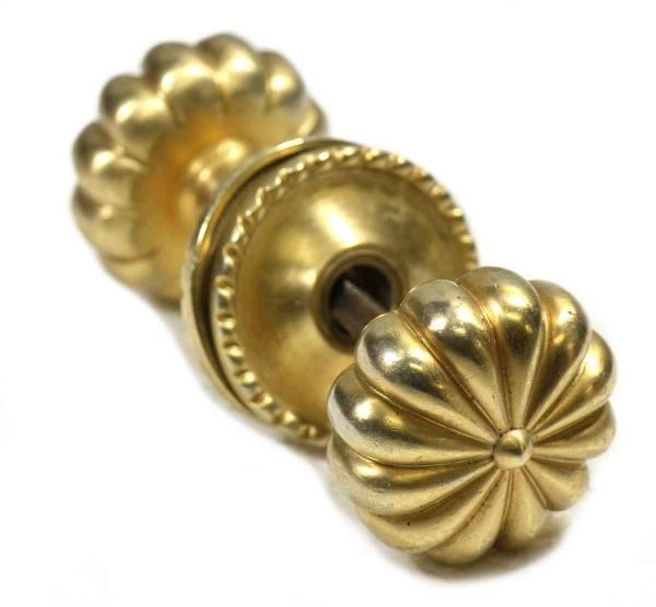 Colonial Style Brightly Polished Brass Knob Set