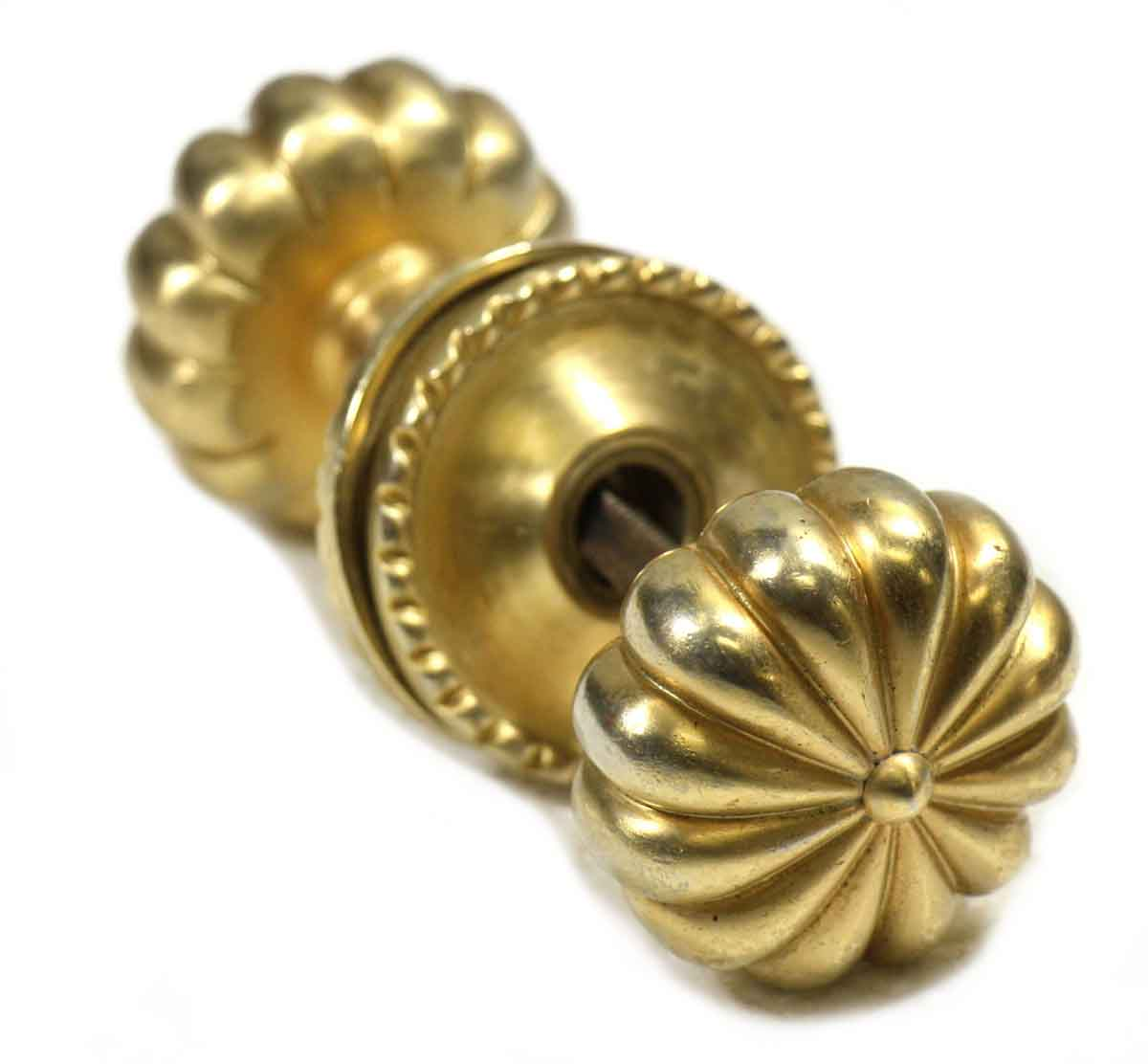 how to clean polished brass door knobs