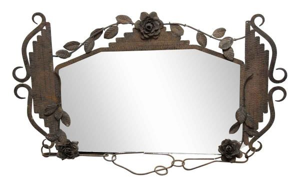 Floral Iron Hanging Mirror