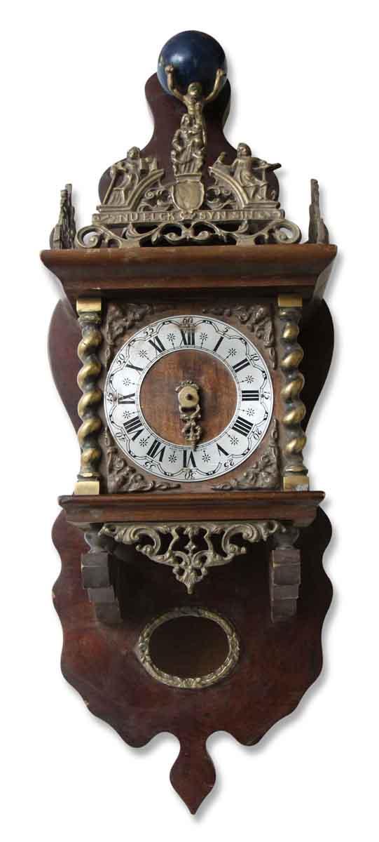 Ornate Antique Hanging Clock