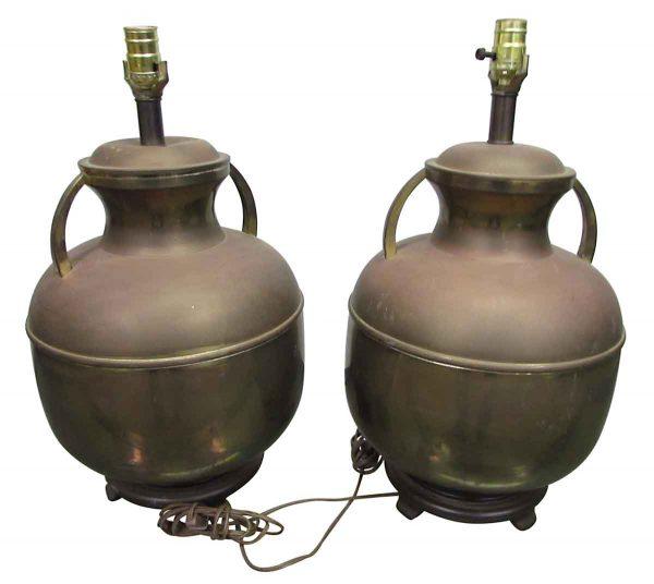 Pair of Interesting Milk Bottle Lamps