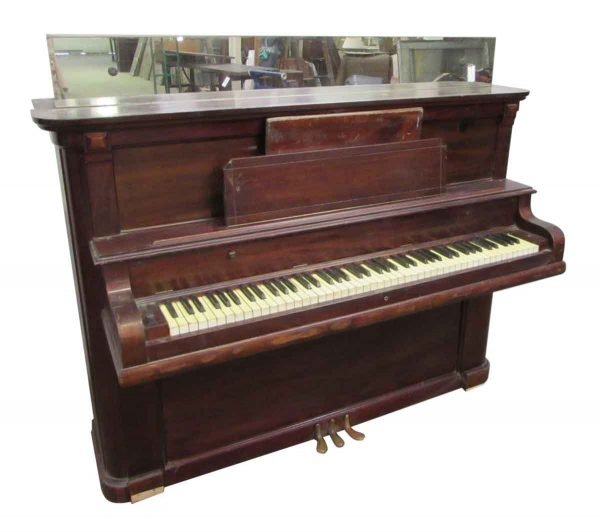 Antique Upright Piano with Mirror