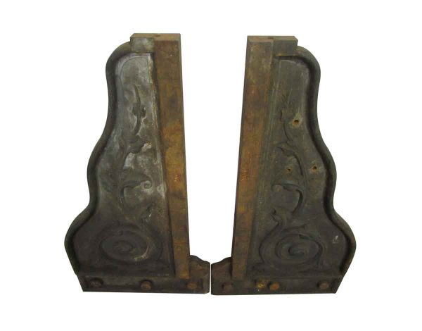 Pair Cast Iron Architectural Brackets