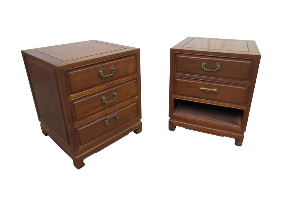 solid wood end tables or night stands olde good things. Black Bedroom Furniture Sets. Home Design Ideas
