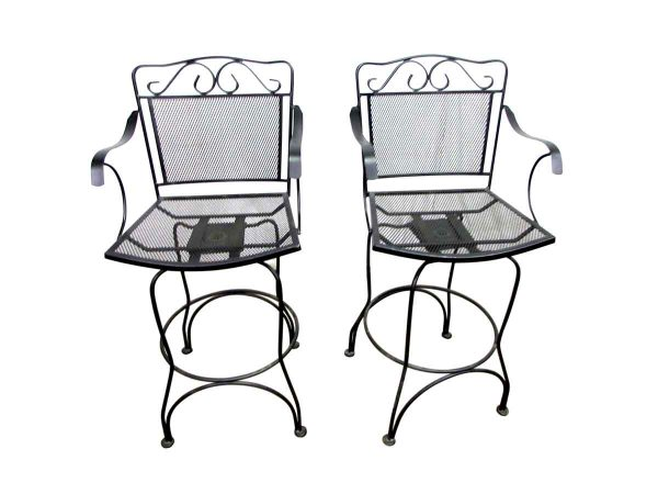 Tall Wrought Iron Swivel Chairs