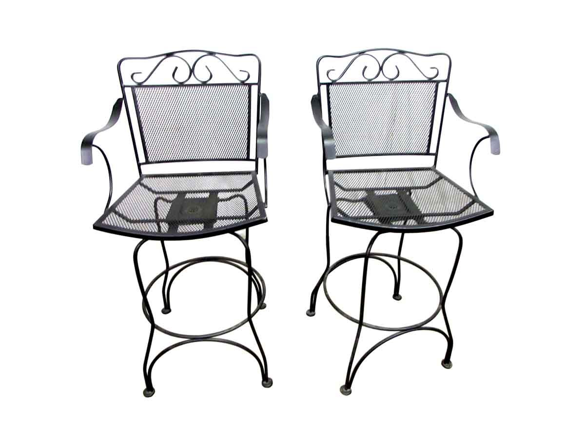 Brilliant Tall Wrought Iron Swivel Chairs Bralicious Painted Fabric Chair Ideas Braliciousco