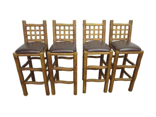 Chunky Wood Bar Stools