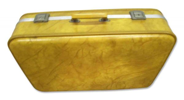 Vintage Yellow Suitcase
